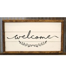 Cabin Fever Decor Welcome Double Sided Sign