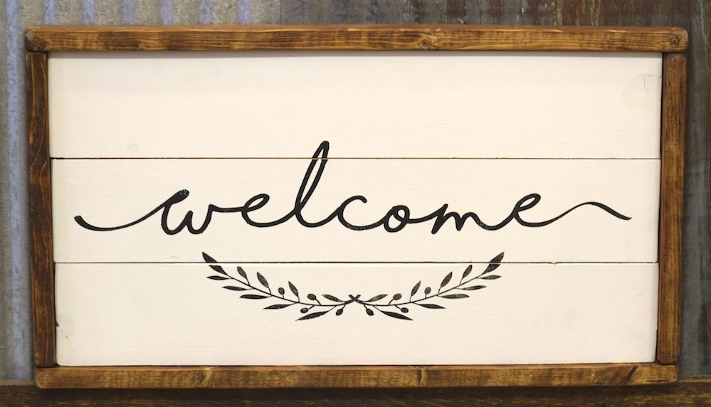 Bon Cabin Fever Decor Welcome Double Sided Sign ...