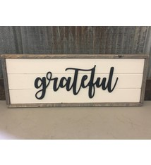 Cabin Fever Decor Grateful Double Sided Sign