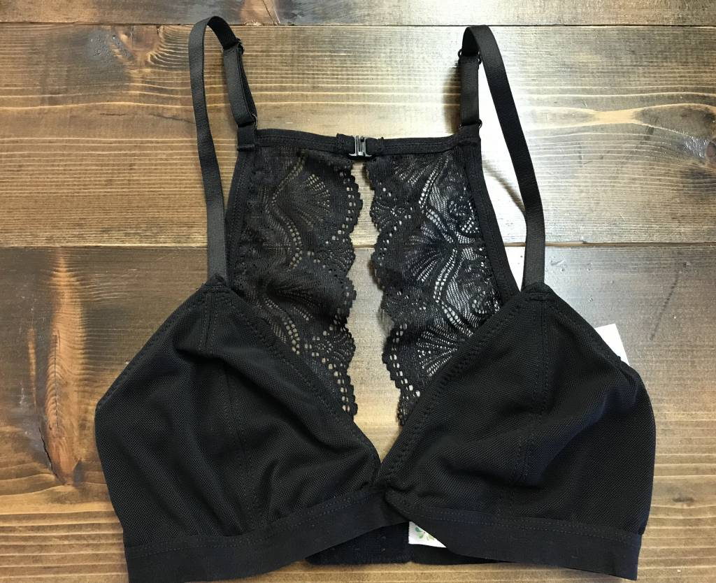 Anemone Mesh Bralette With Lace Back Detail