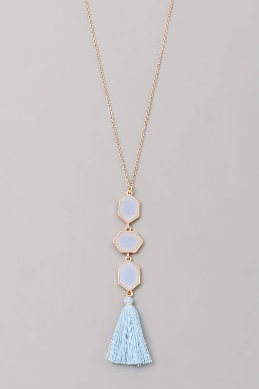 3 Station Charm Necklace