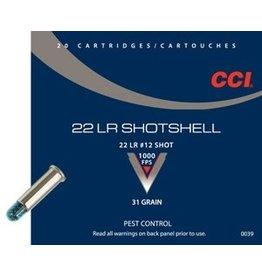 CCI Ammunition CCI 22LR SHOTSHELL 31GR 20/BX