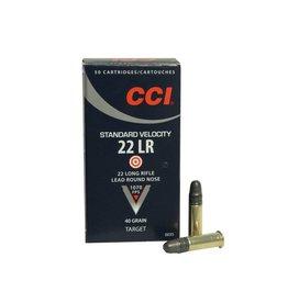 CCI Ammunition CCI AMMUNITION STANDARD VELOCITY 22LR LEAD ROUND NOSE 40GR 500/BX