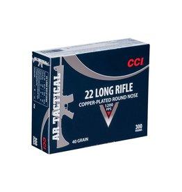 CCI Ammunition CCI AMMUNITION AR TACTICAL 22LR 40GR COPPER-PLATED ROUND NOSE 300/BX