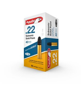 AGUILA AGUILA 22LR 40GR SUBSONIC SOLID POINT 50/BX