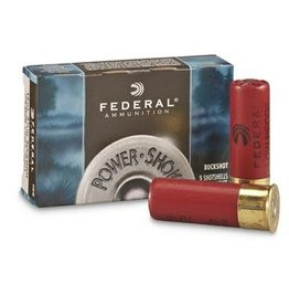Federal Ammunition FEDERAL PREMIUM AMMUNITION POWER-SHOK 12GA 2.75IN MAX 8PELLETS 000BUCK 5/BX