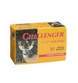 Challenger CHALLENGER AMMO 20 GA 2 3/4IN 7/8 OZ MAGNUM SLUGS 10/BX