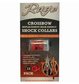 RAGE OUTDOORS Rage Crossbow Replacement High Energy Shock Collars (for all 2-blade rage crossbow broadheads) 15-pack