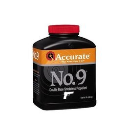 ACCURATE ACCURATE ARMS NO.9 DOUBLE-BASE SMOKELESS PROPELLANT PISTOL POWDER 1LB