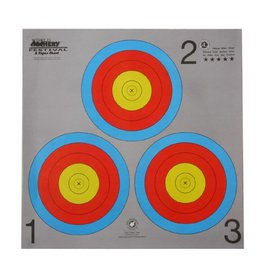 "MAPLE LEAF Maple Leaf FT-40cm 3 Spot Grey ""Vegas"" Target Face"