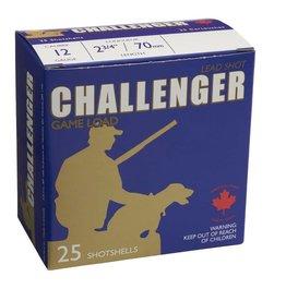 """Challenger CHALLENGER LEAD GAME LOAD 12G 2 3/4"""" LENGTH 6 SHOT 1 1/8 OZ 25/BX"""