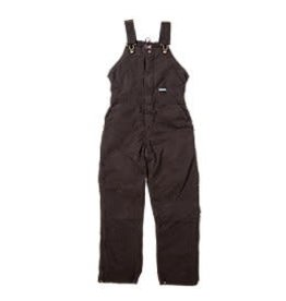 Berne Ladies Washed Insulated Bib Overall DARK BROWN