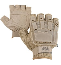 VALKEN Gloves V-TAC Half Finger Plastic Back TAN M/L