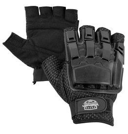 VALKEN Gloves - H-VAC - Half Finger Plastic Back Black XL/2XL