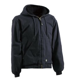 Berne Men's Original Washed Hooded Jacket BLACK