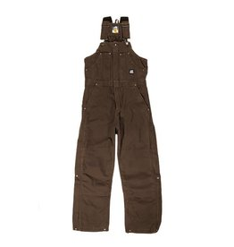 Berne Men's Original Washed Insulated Bib Overall BARK