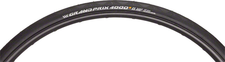 Grand Prix 4000 S II Tire 700x25 Black Folding Bead and Black Chili Rubber