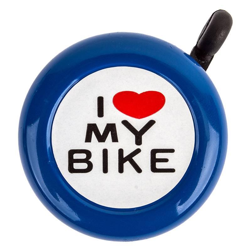 I Love My Bike Bell Blue
