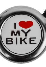 I Love My Bike Bell Chrome