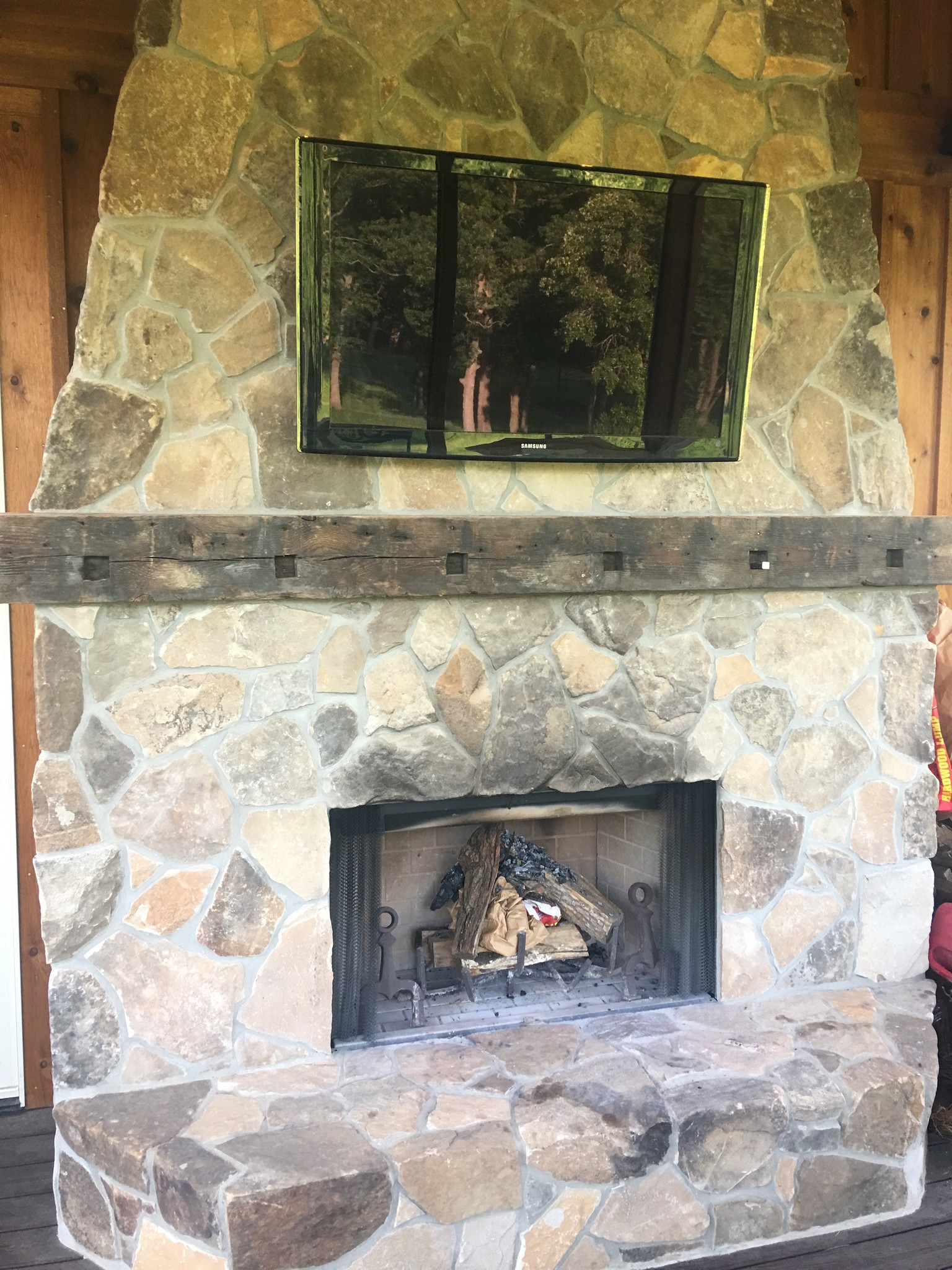 Customer's fireplace mantel