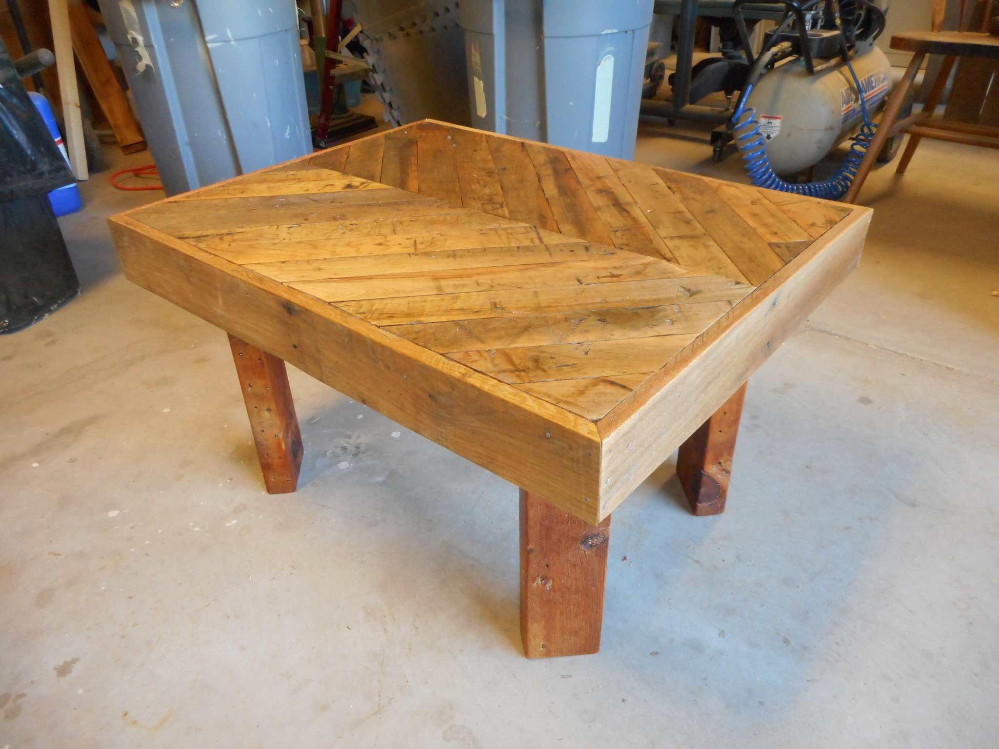 Customer's table made from reclaimed lumber