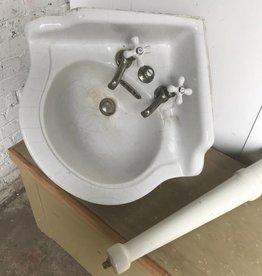 R&F Antique Porcelain Corner JL Mott Sink
