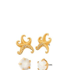 Spartina 449 951154 MYSTICAL STARFISH EARRINGS SET (2 PAIRS)