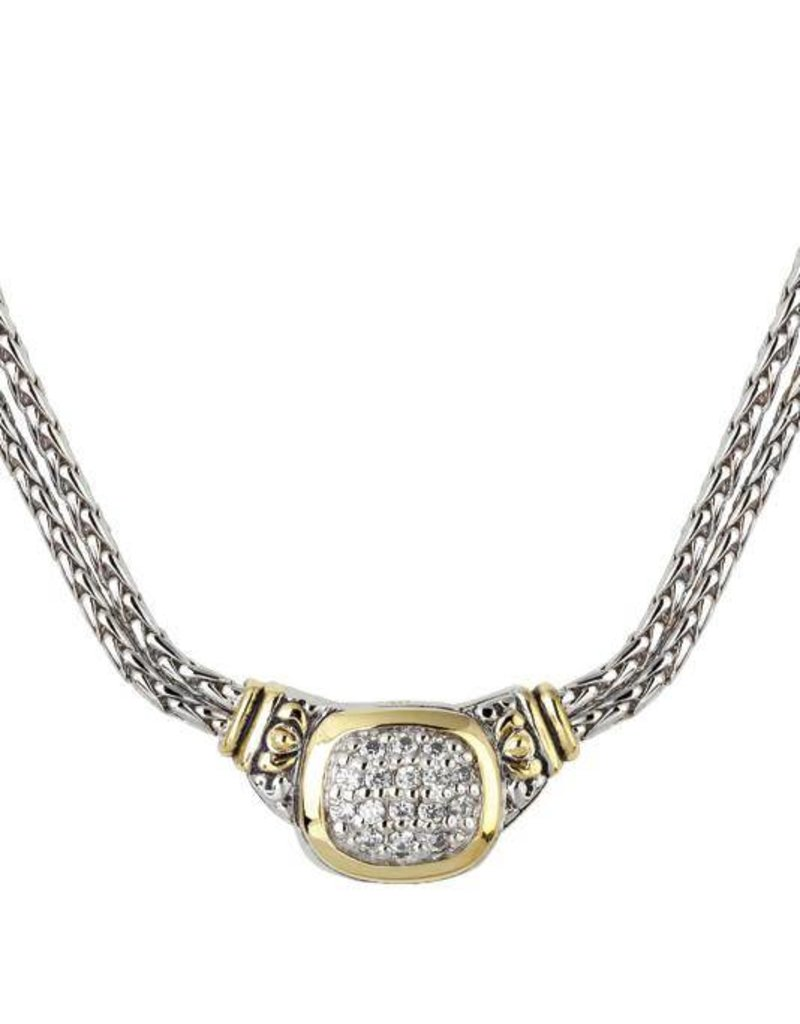 JOHN MEDEIROS N3899-AF03 Nouveau CZ Double Strand Necklace