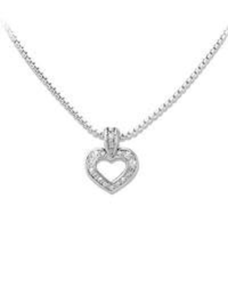 JOHN MEDEIROS K3891-AF03 HEART COLLECTION TWO HEARTS INSEPARABLE SLIDER NECKLACE