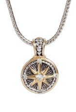 JOHN MEDEIROS K3672-AF03 LITTLE INSPIRATIONS COMPASS SLIDER CHARM NEKCLACE
