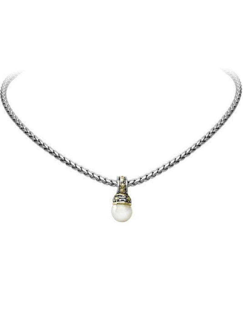 JOHN MEDEIROS K2863-AB00 OCEAN IMAGES COLLECTION PEARL SLIDER WITH CHAIN NECKLACE