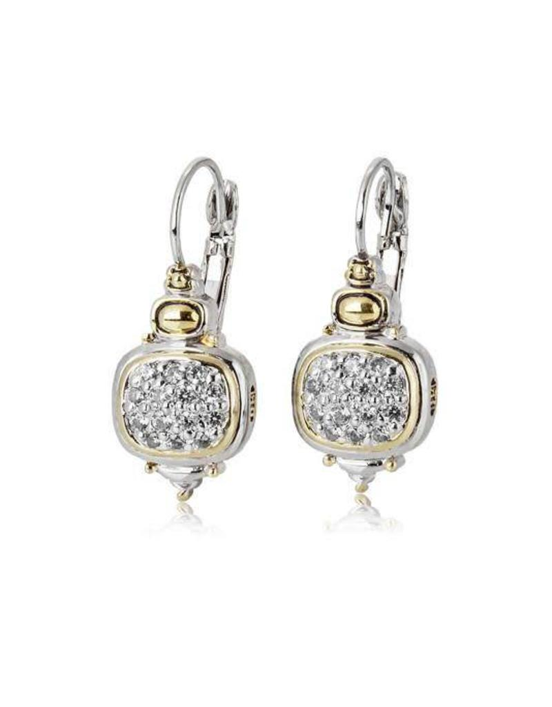 JOHN MEDEIROS F3900-AF00 NOUVEAU CZ FRENCH WIRE EARRINGS - Protass Gifts