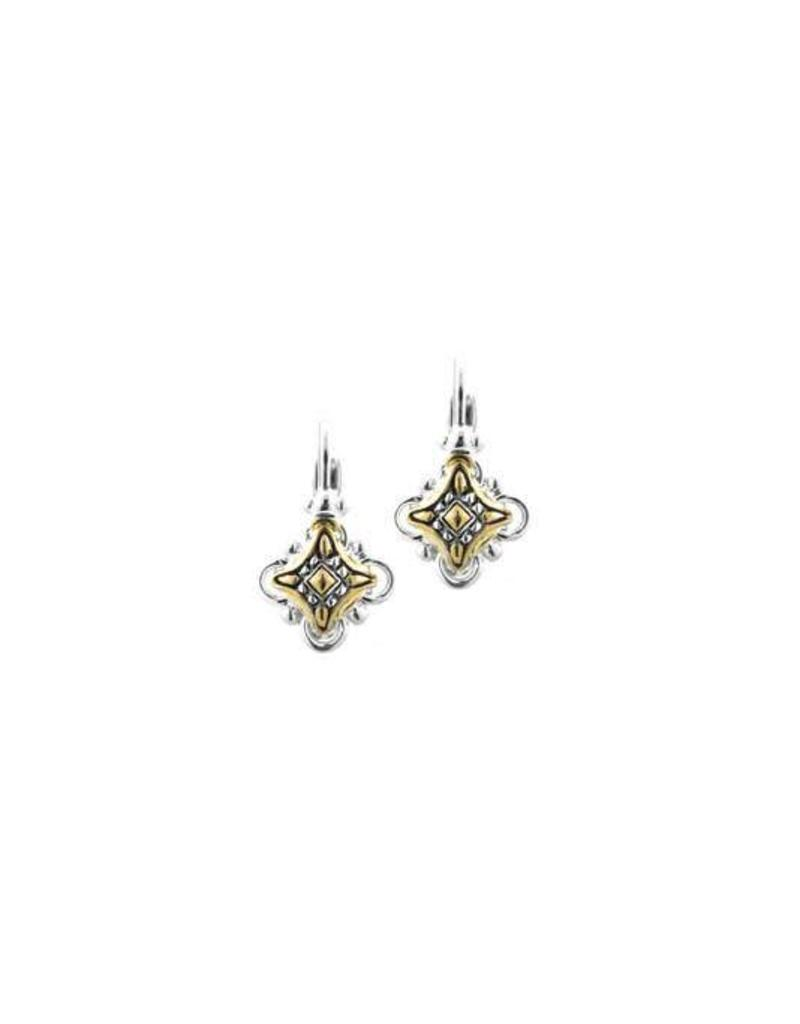 JOHN MEDEIROS F3732-A000 O-LINK COLLECTION TWO TONE FRENCH WIRE EARRINGS