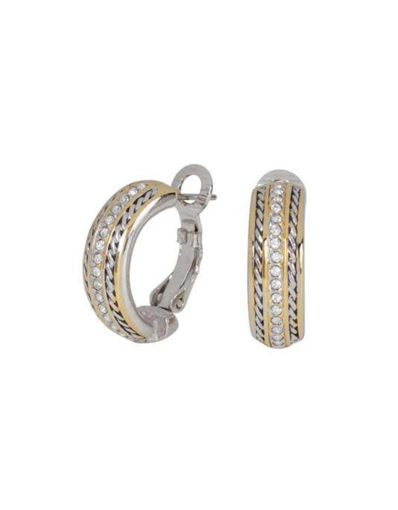 JOHN MEDEIROS E2979-AF00 BRIOLETTE PAVÉ HOOP EARRINGS