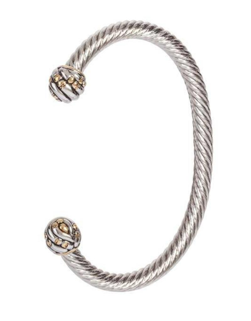 JOHN MEDEIROS B4073-A000 CANIAS COLLECTION MEDIUM WIRE CUFF BRACELET