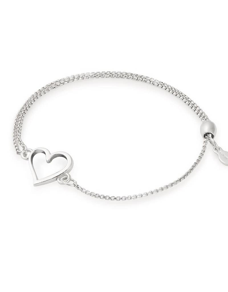 Alex And Ani Pc18ebh03s Heart Pull Chain Bracelet