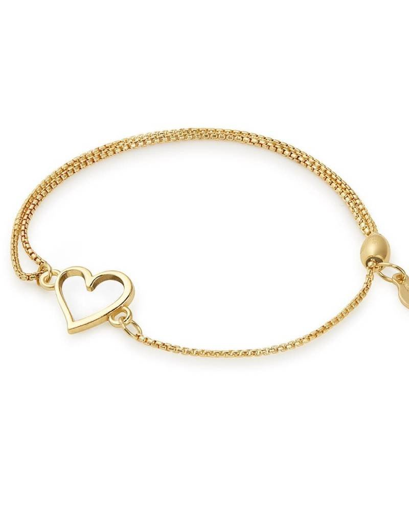 ALEX AND ANI PC18EBH03G HEART PULL CHAIN