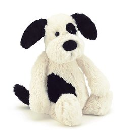 JELLYCAT BAS3BCP BASHFUL BLACK & CREAM PUPPY MEDIUM