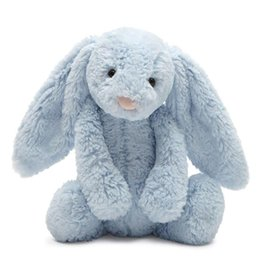 JELLYCAT BBP444B BASHFUL LIGHT BLUE BUNNY W/CHIME