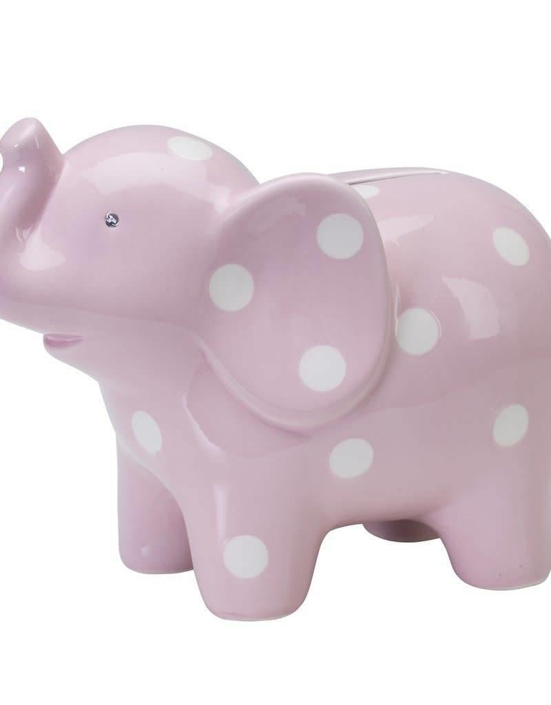 48631 CERAMIC PINK ELEPHANT BANK