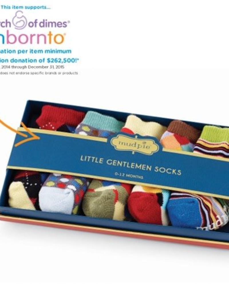 MUD PIE 1542065 LITTLE GENTS SOCK SET
