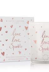 KATIE LOXTON KLC073 ICON CANDLE - LIVE LOVE SPARKLE - BEACH ROSE AND SWEET PEA - 160GR