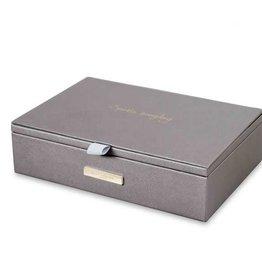 KATIE LOXTON KLB220 JEWELLERY BOX - SPARKLE EVERYDAY - METALLIC CHARCOAL