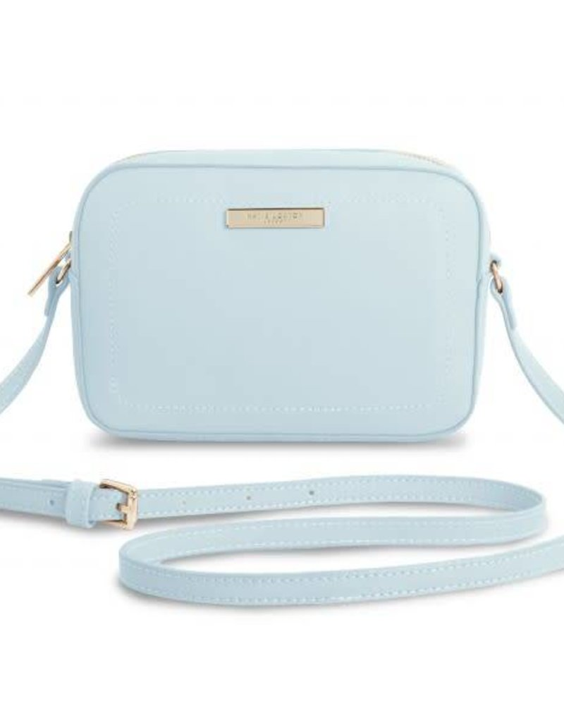 KATIE LOXTON KLB319 HANDBAG - LOULOU CROSS BODY BAG - PALE BLUE - 20.5X14X6CM
