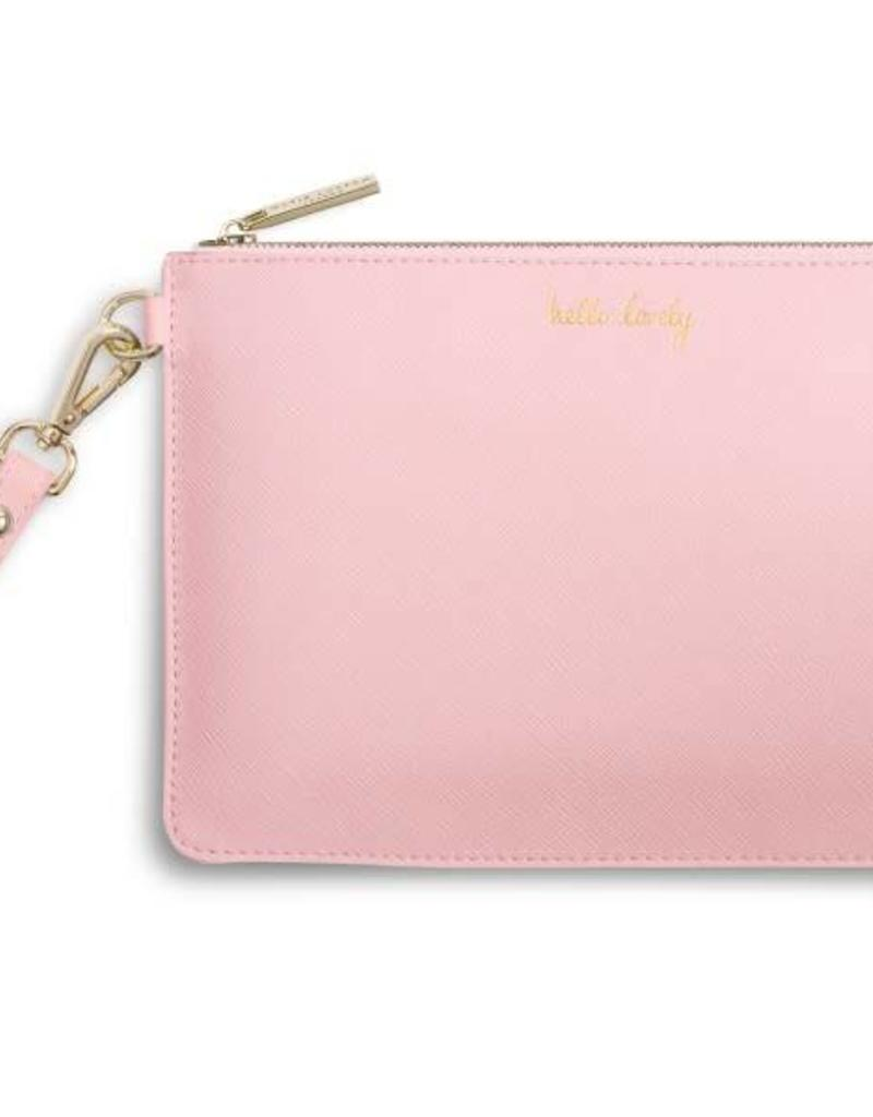 KATIE LOXTON KLB255 SECRET MESSAGE POUCH - HELLO LOVELY/TO MY BEAUTIFUL FRIEND - PINK - 16X24CM