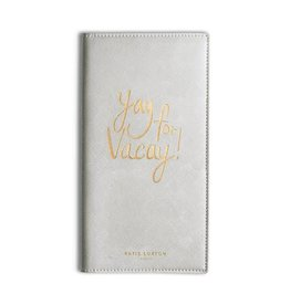 KATIE LOXTON KLB297 TRAVEL WALLET - YAY FOR VACAY -  METALLIC SILVER - 23X12CM