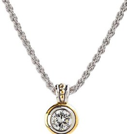 JOHN MEDEIROS K5019-AF05 BEIJOS 8MM CZ BEZEL SET PENDANT NECKLACE