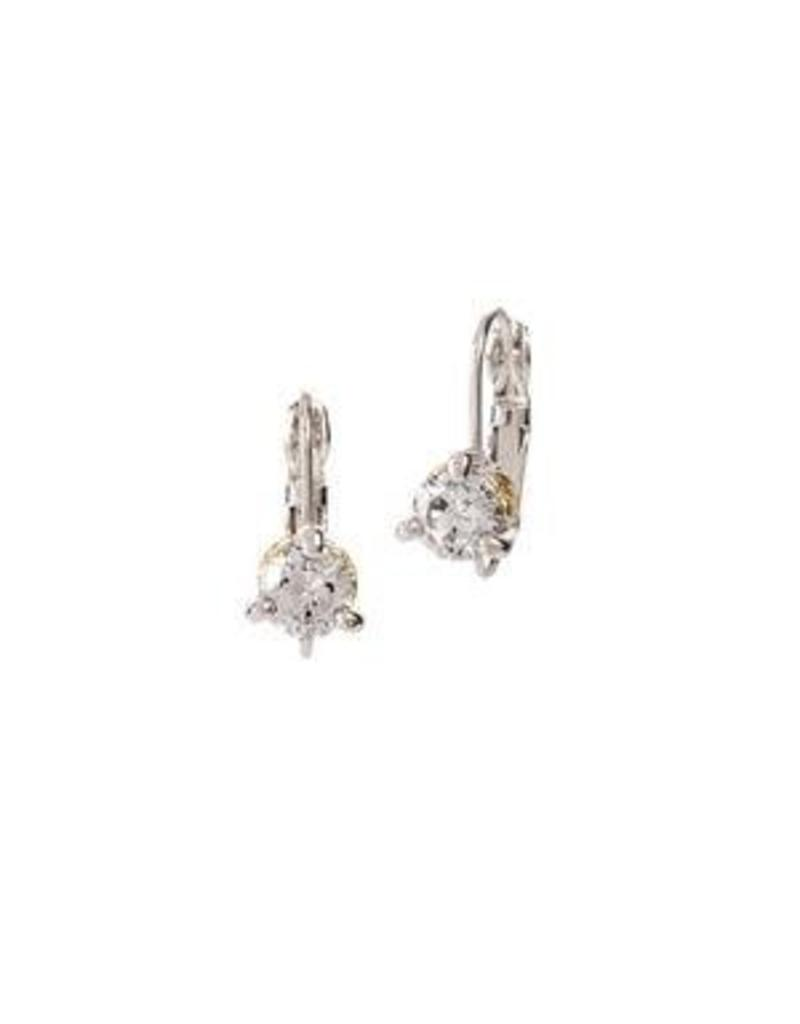 JOHN MEDEIROS F5015-AF00 BEIJOS 5 MM CZ PRONG SET EARRINGS
