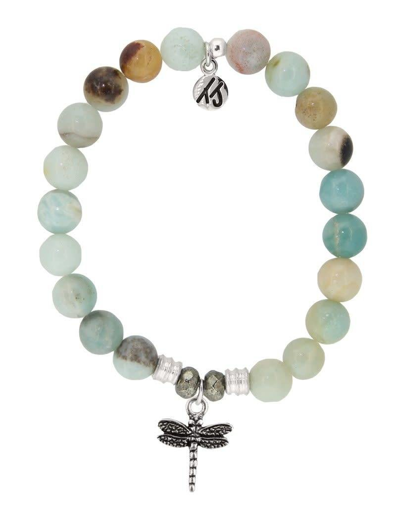 T JAZELLE TJ10038 AMAZONITE-DRAGON FLY