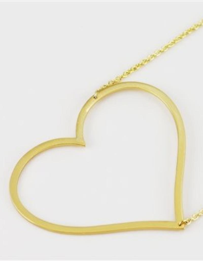 31208 LARGE SIDEWAYS HEART NECKLACE